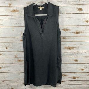 Cloth & Stone charcoal gray chambray dress